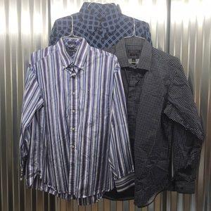 Men's dress shirt lot! All size L!